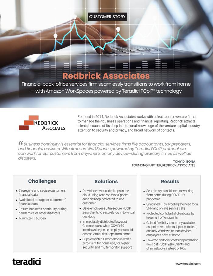 Redbrick Associates Customer Story pdf